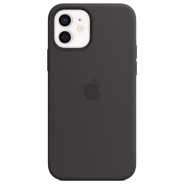 Capa Silicone iPhone 12 e 12 Pro Preto MagSafe (Original)