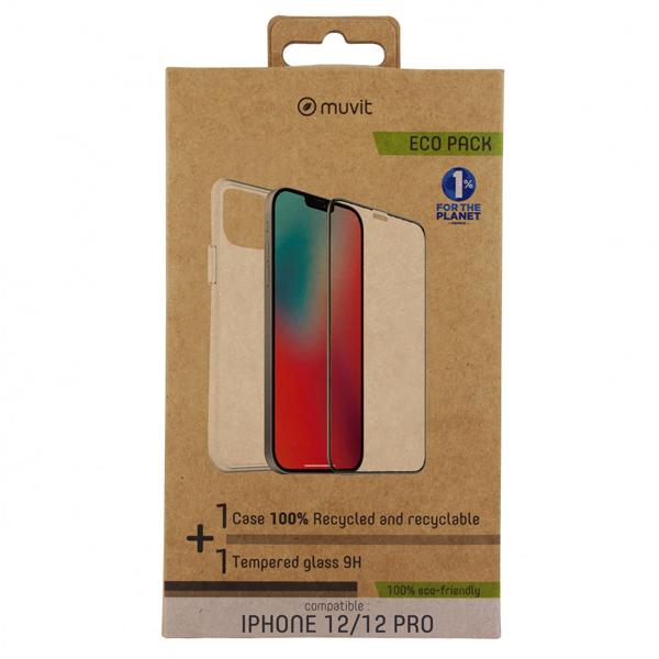 Pack Capa Reciclada + Protetor iPhone 12 & 12 Pro